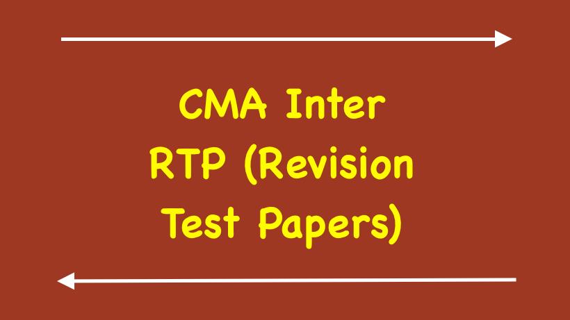 CMA Inter RTP