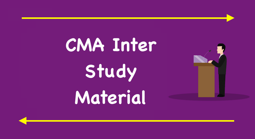 CMA Inter Study Material