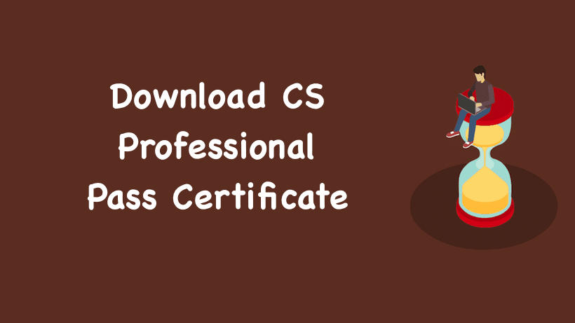 Download CS Professional Pass Certificate