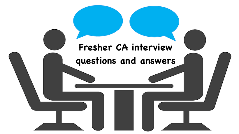 Fresher CA interview questions and answers