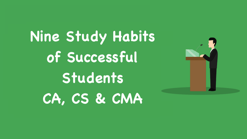 Nine Study Habits of Successful Students