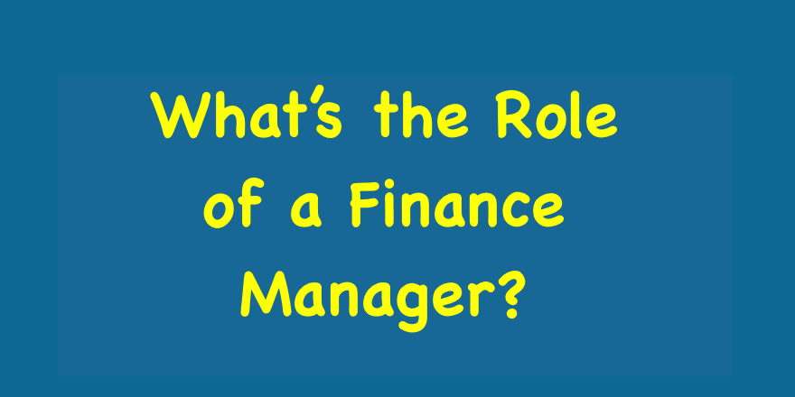 What's the Role of a Finance Manager?