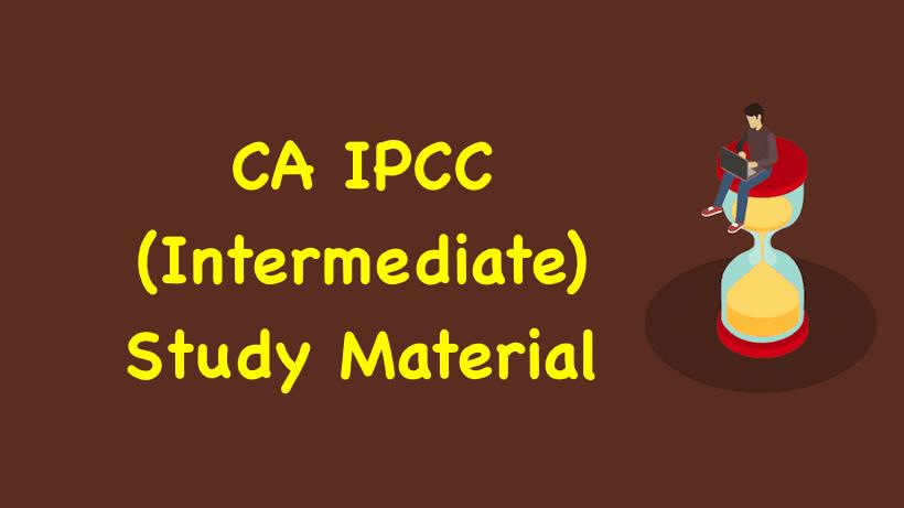 CA IPCC Study Material