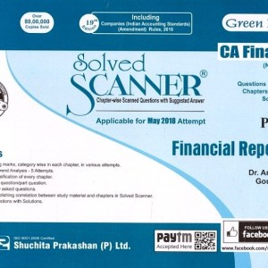 CA Final Financial Reporting Scanner by Arpita Ghose New