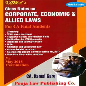 CA Final Law Class Notes by Kamal Garg