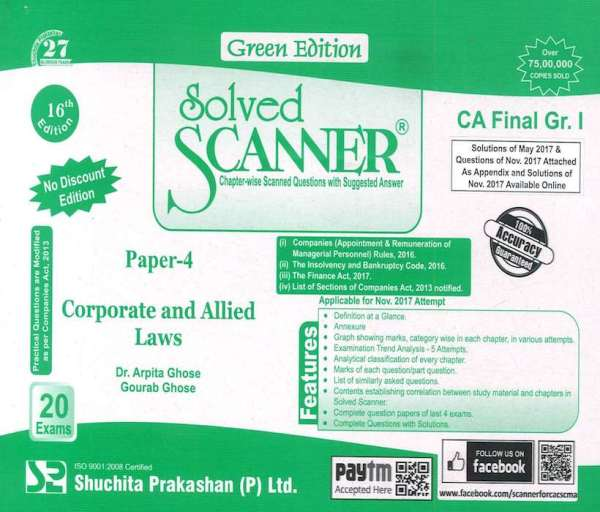 CA Final Law Scanner by Arpita Ghose