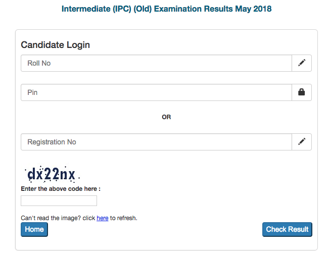 CA IPCC Result May 2018