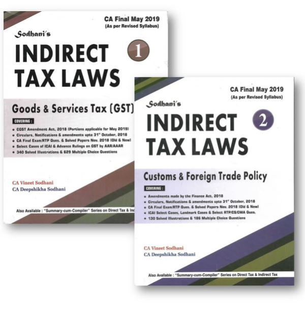 CA Final Indirect Tax Modules by Vineet Sodhani
