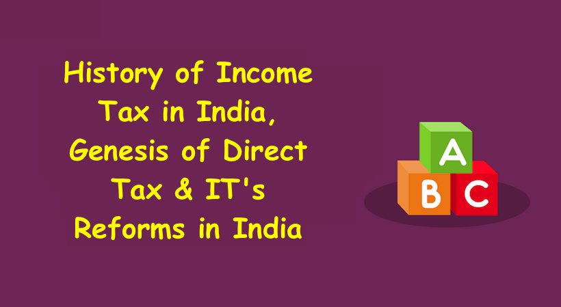 History of Income Tax in India
