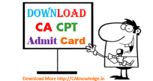 CA CPT Admit Card June 2016