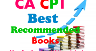CA CPT Best Recommended Books