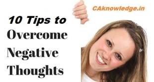 10 Tips to Overcome Negative Thoughts