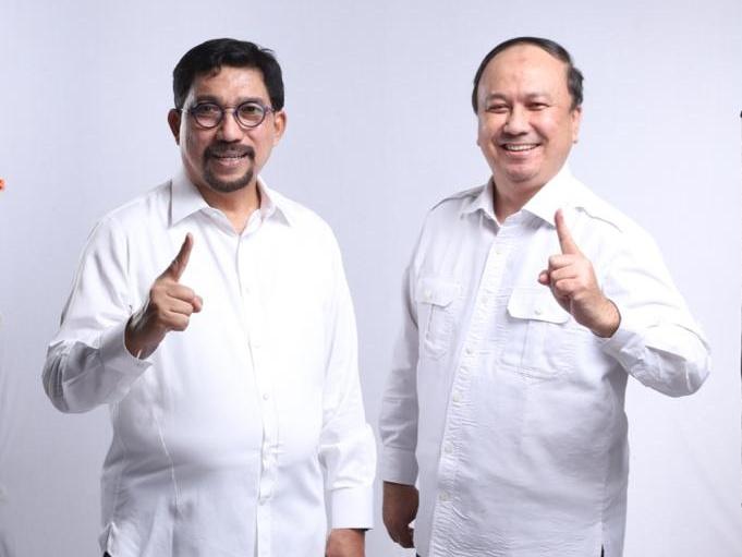 Foto Machfud Arifin dan Gus Amik yang beredar sebagai opsi pasangan dalam pilkada surabaya desember mendatang