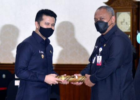 Wagub Jatim Emil bersama Plh Wali Kota Surabaya Hendro Gunawan