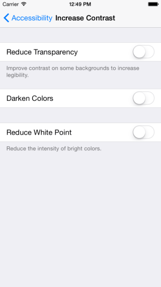 accessibility setting