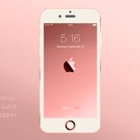 全iPhone、iPadの壁紙「Rose Gold」4枚リリースしました