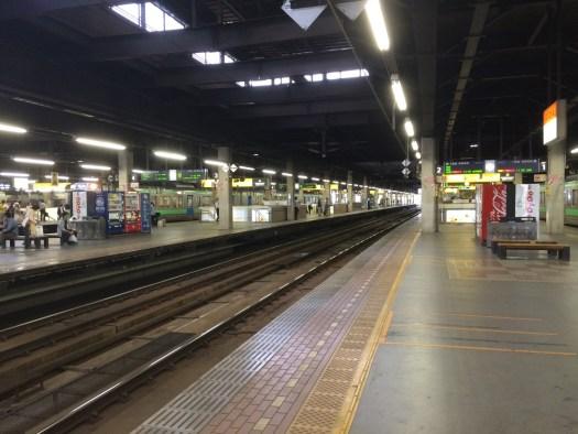 札幌駅で北斗星を待つ