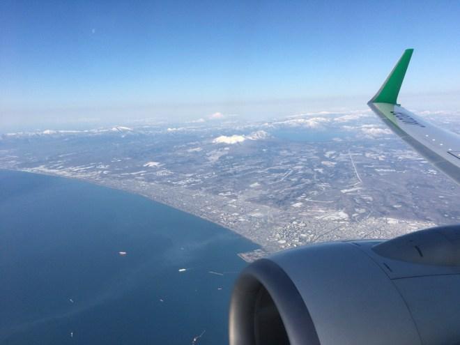 春秋航空 北海道をあとに