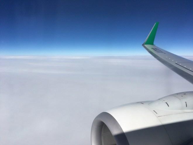春秋航空日本 空の上