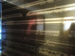 100系168形式新幹線「二階建て食堂車」エッチング