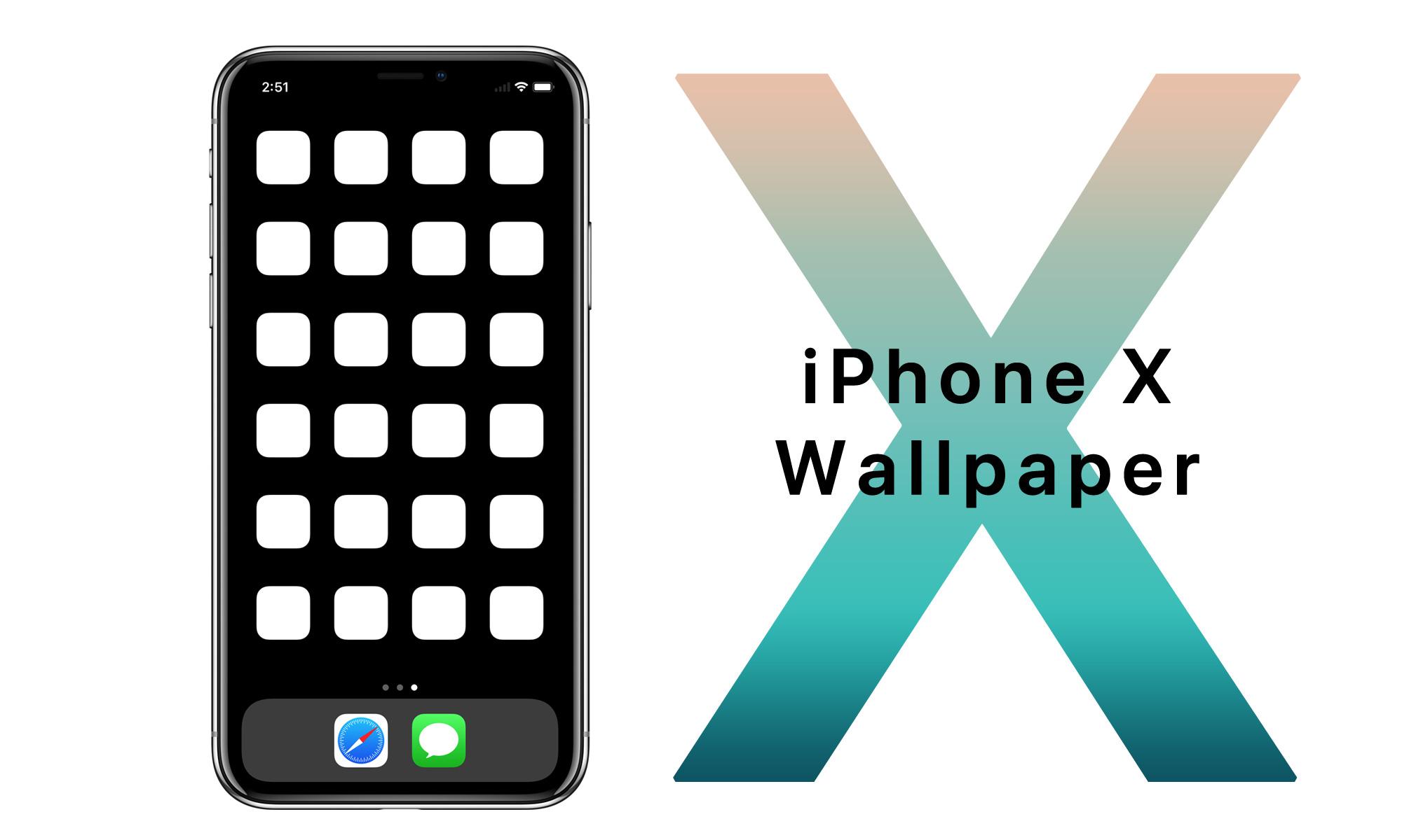 iPhone X壁紙できました。
