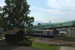 富良野線中富良野駅からファーム富田まで歩きます