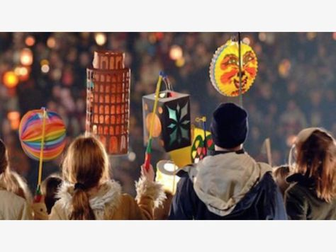 Festive Lantern Parade at Old World Huntington Beach