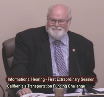 Senator Jim Beall, new co-chair of the Transportation Infrastructure Conference Committee