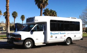The old buses only sat 30 people for the long ride.Some of the older Kern Regional Transit buses still operate on the routes. Phtoto courtesy of Kern Regional Transit.