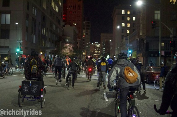 East Bay Bike Party rides through Oakland Chinatown. Photo courtesy Rich City Rides