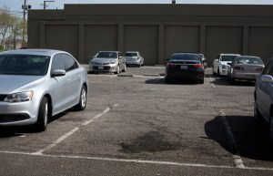 The city of Turlock plans to revitalize this underused parking lot on South Broadway Avenue. Photo: Minerva Perez