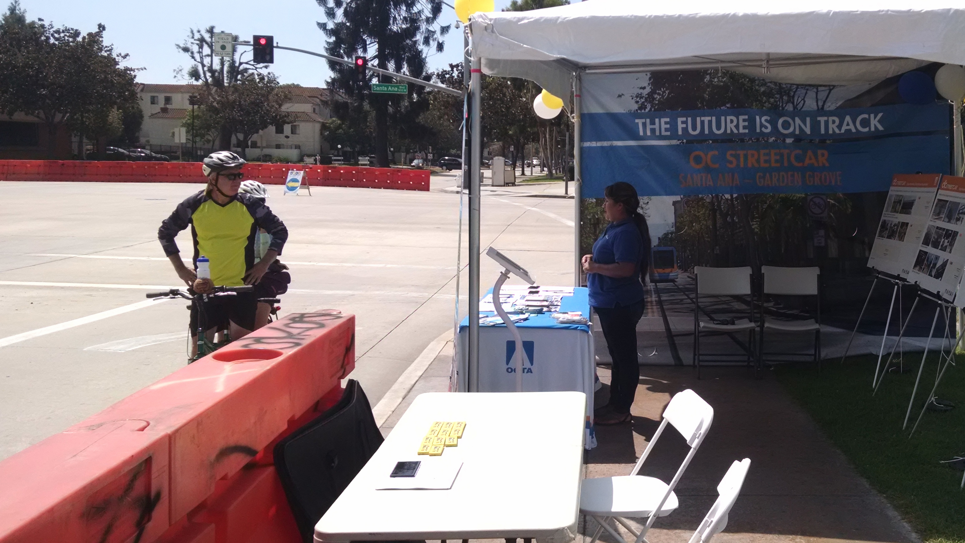 OCTA's OC Streetcar booth at Santa Ana's 5k/Ciclovia. Photo by Kristopher Fortin.