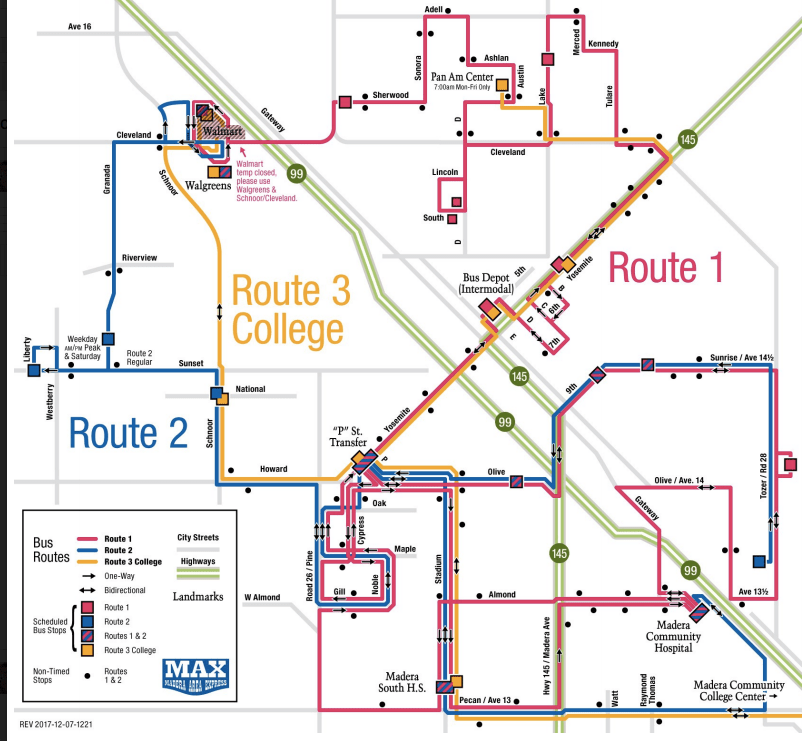 Madera Adds Bus Route for Community College Students