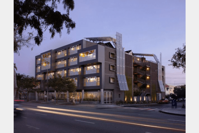 Sierra Bonita Housing in West Hollywood. Image courtesy of Patrick Tighe Architecture