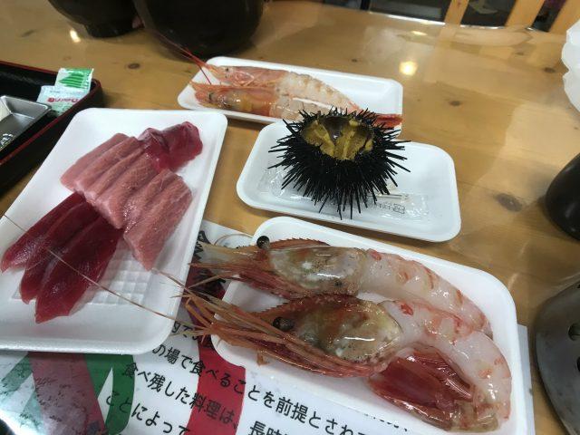 sashimi mercato del pesce di Shiogama