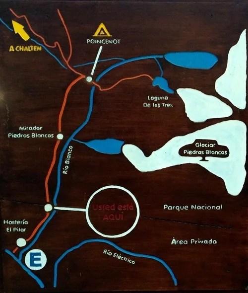 MAPA Senda Pilar Laguna de los Tres Chalten 14