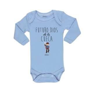 Ropa Bebe Body Calambur 100% algodón Moda Infantil Futuro Dios De La Cueca