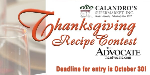 Enter The Advocate & Calandro's 2014 Thanksgiving Recipe Contest!
