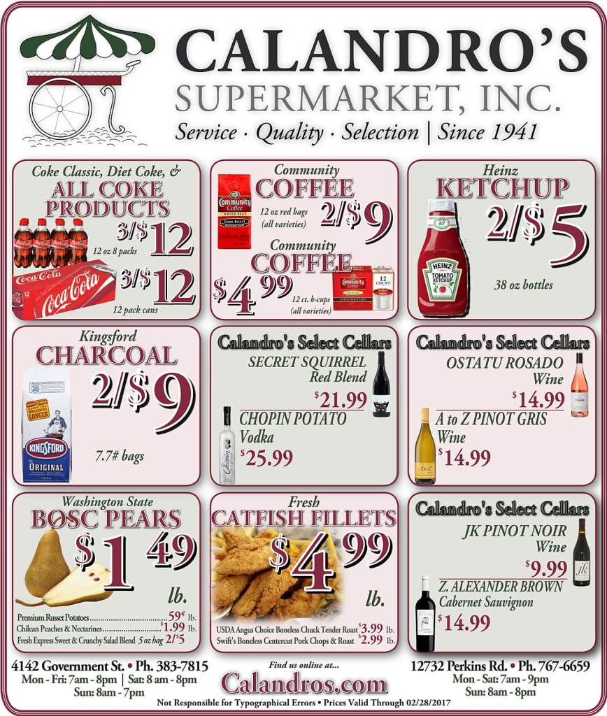 Amazing Weekly Deals @ Calandro's this week (02/23)!