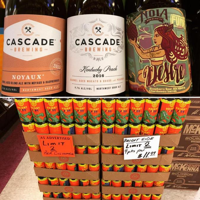 It's #newbrewthursday at our Perkins Rd location featuring new arrivals from @cascadebrewingbarrelhouse and @nolabrewing !!…