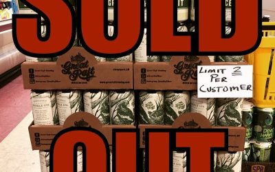 And just like that we're sold out of @greatraftbeer Grace and Grit! 10 cases in…
