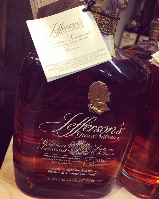 @jeffersonsbourbon Grand Selection Sauternes Cask Finish is now available at our Perkins Rd location, just…