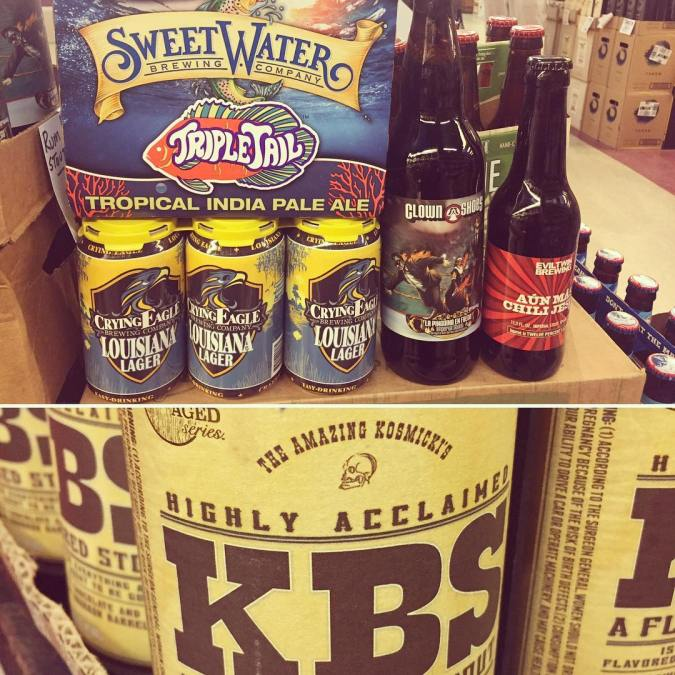 New brews today at our Perkins Rd location! @foundersbrewing @sweetwaterbrew @clown_shoes_beer @eviltwinbrewing @cryingeaglebrew #drinklocal #beer…