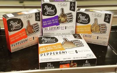 Dude. True low-carb, no-guilt, #paleo #pizza. Seriously. Just got @realgoodfoods full line of pizzas in…