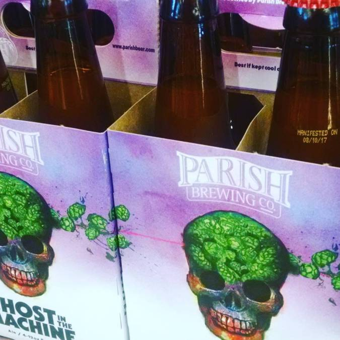 Hops have arrived @calandrosmkt on Perkins. Bottled 8/10/17 @parishbrewingco #gitm #beer #freshhops #freshies #summerofghost