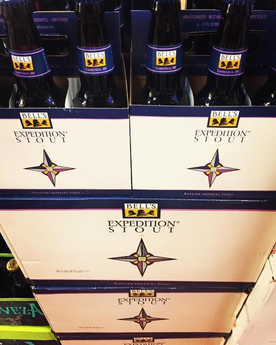 @bellsbrewery Expedition Stout is now in stock at our Perkins Rd location! #beer #stoutseason #kalamazoo