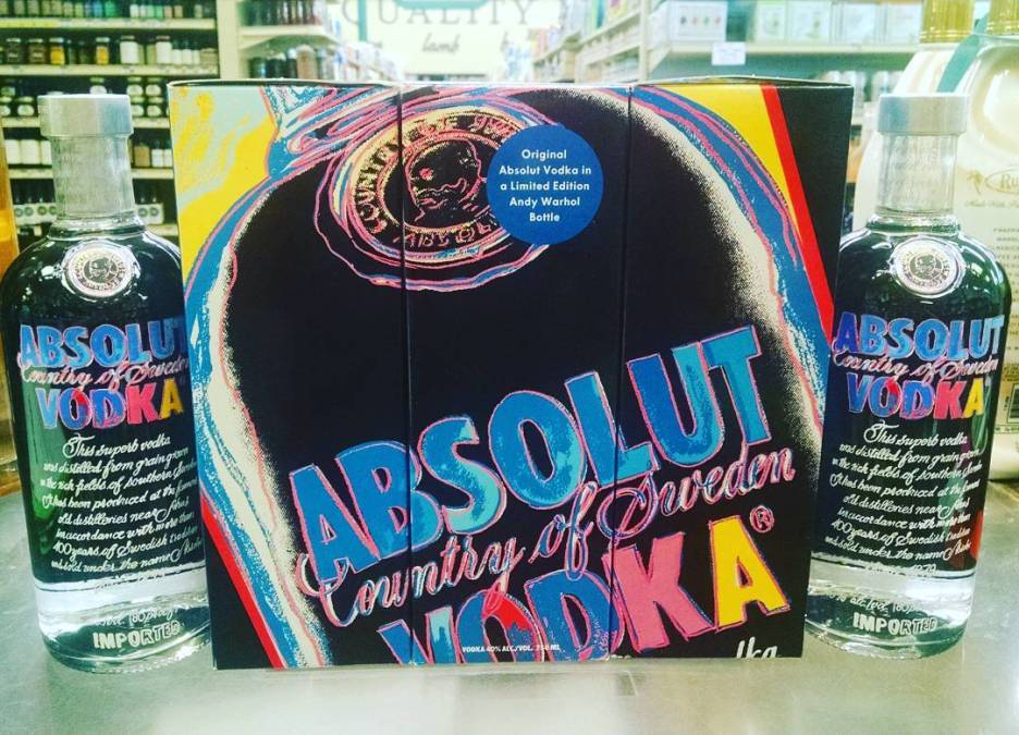 Any Absolut Warhol fans out there? #vodka #warhol #throwback #spirits #absolut @absolutvodka