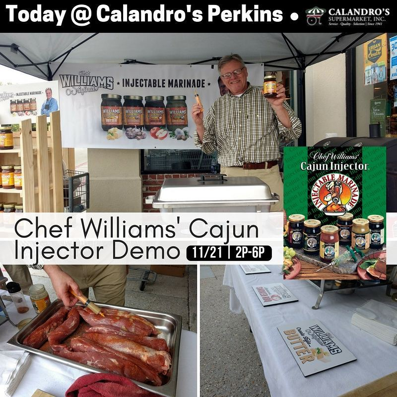 Happening now @ Calandro's Perkins - the best #local, #injectable #turkey #marinade, just in time…