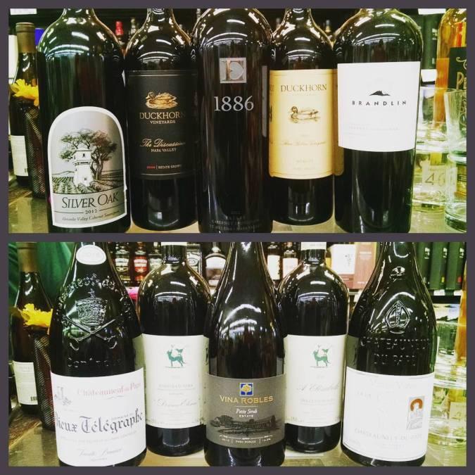 Got your #magnums right here @calandrosmkt on Perkins! @duckhornwine @silveroakcellars @ehlersestate #wine #biggerisbetter #gobigorgohome #magnum