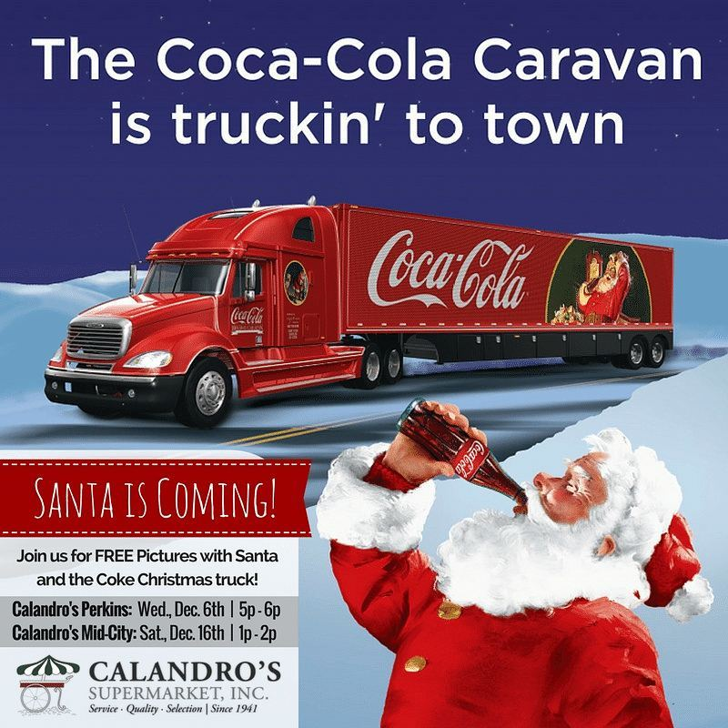 Santa is coming **in 2 days** to Calandro's Perkins! Free pics, holiday music, the iconic…